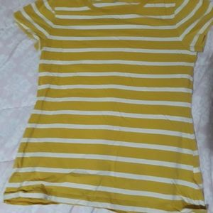 Old navy Yellow and white striped shirt